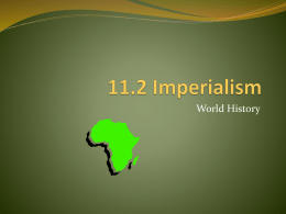11.2 Imperialism - Richmond Heights Schools