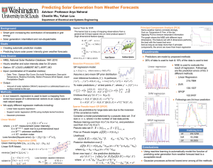 Poster-Predicting Solar Generation from Weather Forecasts
