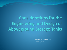 Considerations for the Engineering and Design of