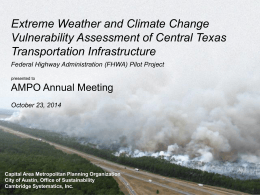Extreme Weather and Climate Change Vulnerability
