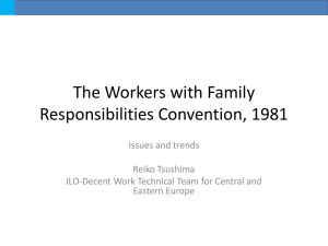 Report on comments from the ILO Committee of Experts on the