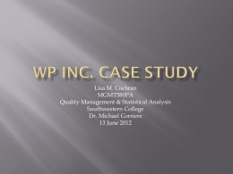 WP Inc. case study