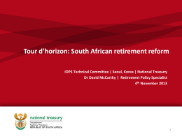 South African Retirement Reform