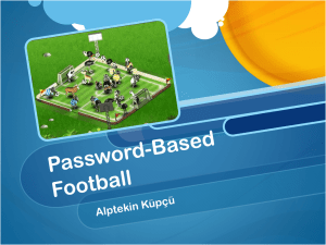Password-Based Football