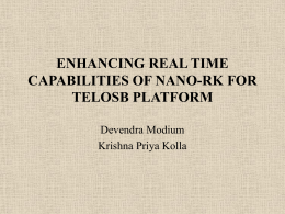 ENHANCING REAL TIME CAPABILITIES OF NANO