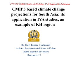 CMIP5 based climate change projections for India: its