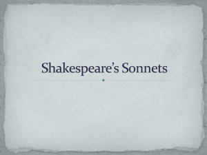 Sonnets Notes - Pre-AP English 9 with Kenney