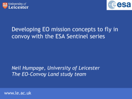 Developing EO mission concepts to fly in convoy with the ESA
