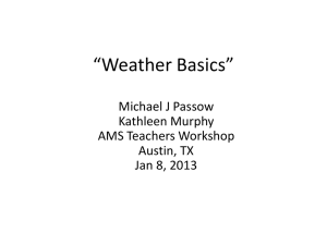 Weather and Climate Basics