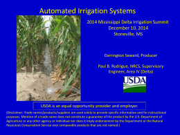 Darrington Seward, Producer, Automated Irrigation