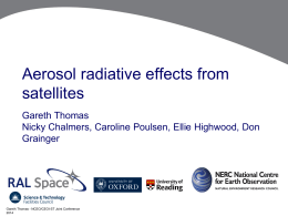 Aerosol radiative effects from satellites
