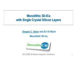 Slide - MonolithIC 3D Inc.