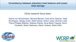 Consistency between planetary heat balance and ocean
