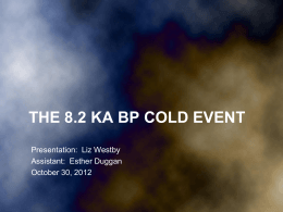 The 8.2 ka Event - PSU Glacier Research