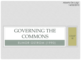 governing the commons: Chap. iii