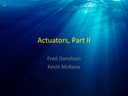 Actuators, Part II