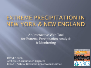 Extreme precipitation in new york & new england