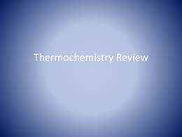 Thermochemistry Review TP