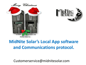 MidNite Solar`s Local App software and Communications protocol