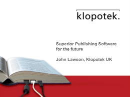 Klopotek Superior publishing software for the future