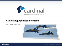 SOBARC Cultivating Agile Requirements