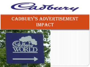 Cadbury`s advertisement impact