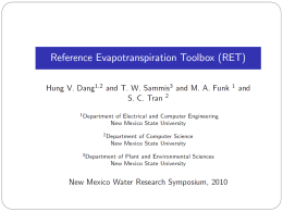 Reference Evapotranspiration toolbox