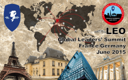 English LEO Global Leaders Summit Europe June 2015 incentive