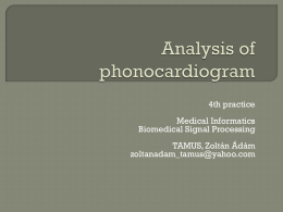 Analysis of phonocardiogram