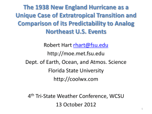 The predictability of 1938 New England Hurricane as viewed