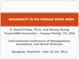 January effect in the Vietnam Stock Index