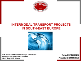 Intermodal Transport - southeast european intermodality