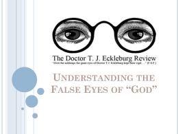 Symbolism_False Eyes of God