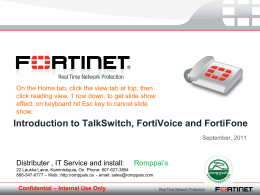Fortivoice Phone system_Presentation_Sept2011_r2