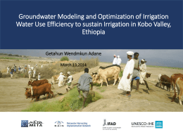 Groundwater Modeling and Optimization of Irrigation Water Use