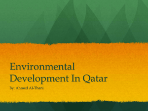 Environmental Development In Qatar