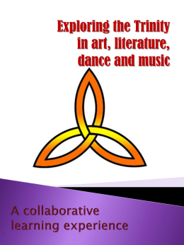 Exploring the Trinity through art, literature, dance and