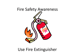 Fire Safety Use Extinguisher - Northside & Seaforth Uniting Church