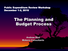Analysis of Planning Budget Process in Zambia
