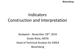 Indicators Construction and Interpretation