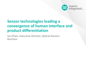 Sensor technologies leading a convergence of human interface and
