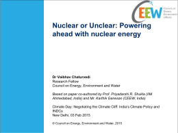 Nuclear or Unclear - Council on Energy, Environment and Water