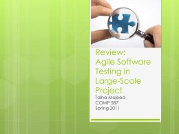 Agile Software Testing in Large
