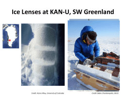 Ice Lenses at KAN-U, SW Greenland