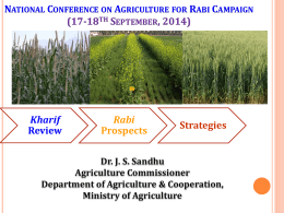 National Conference on Agriculture for Rabi Campaign