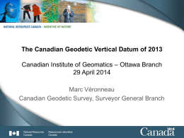 WHAT is the Canadian Geodetic Vertical Datum of 1928 (CGVD28)?
