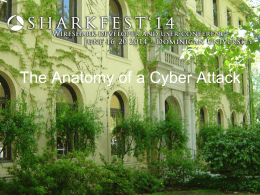 Anatomy of a Cyber Attack - SharkFest