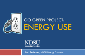Energy Use - Presentation