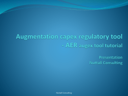 Augmentation capex regulatory tool
