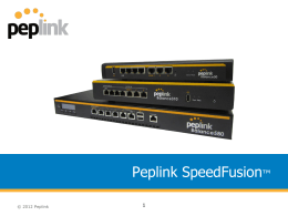 Peplink SpeedFusion